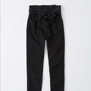 ultra high rise paperbag waist jeans